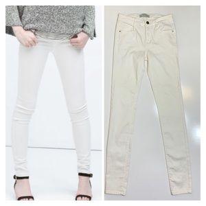 Zara Trafaluc Skinny White Cream Jeans Sz 2